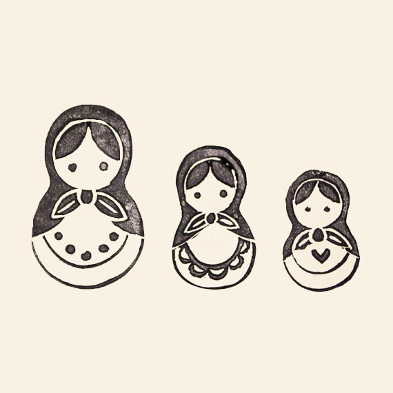 Matryoshka Dolls Tattoo Designs Over White Background of 19 by Michelle