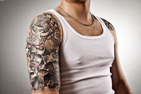 amazing biceps tattoo for guys