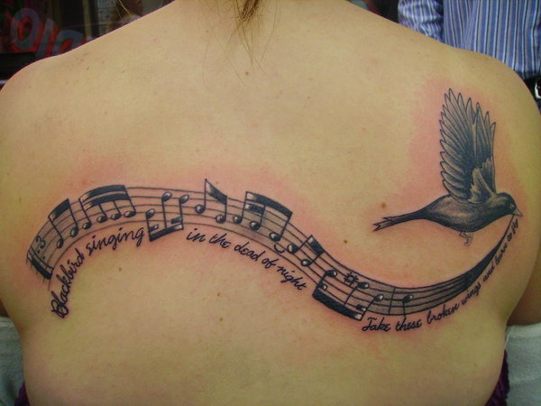 And The Grasses Will Still Be Singing Literary Tattoo On Arm of 8 by Emily