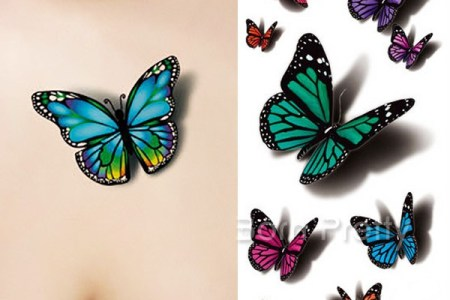 best blue 3d erfly tattoo designs and ideas