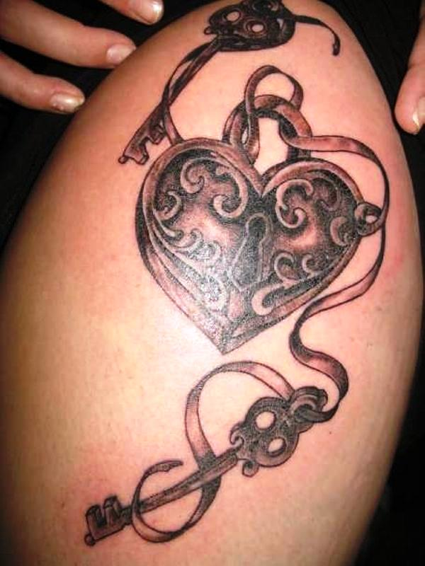 Heart Locket Tattoo of 2 by Christian