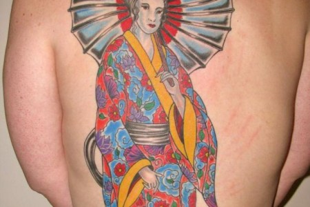 awesome geisha tattoo design td2414