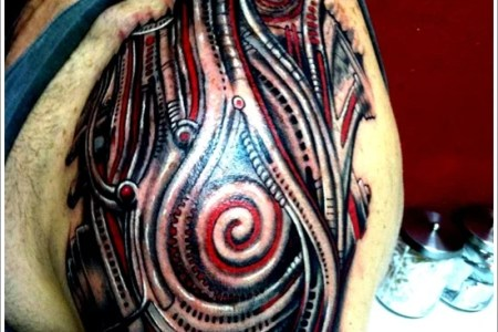 biomechanical tattoo design 19