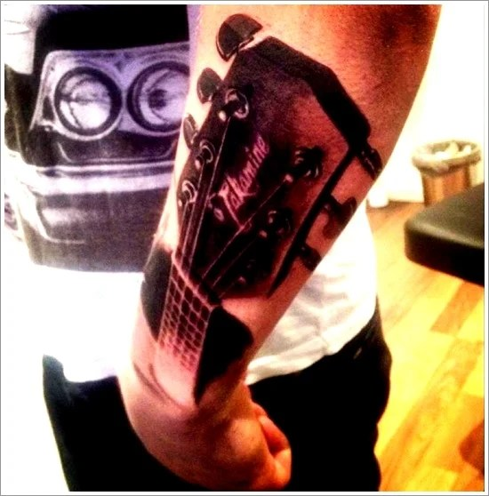 25 Creative Guitar Tattoo Designs of 10 by Wendy