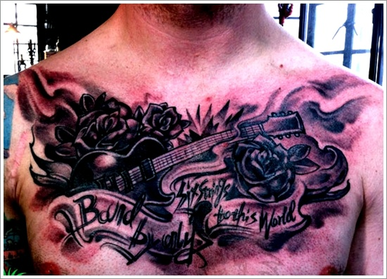 25 Creative Guitar Tattoo Designs of 7 by Wendy