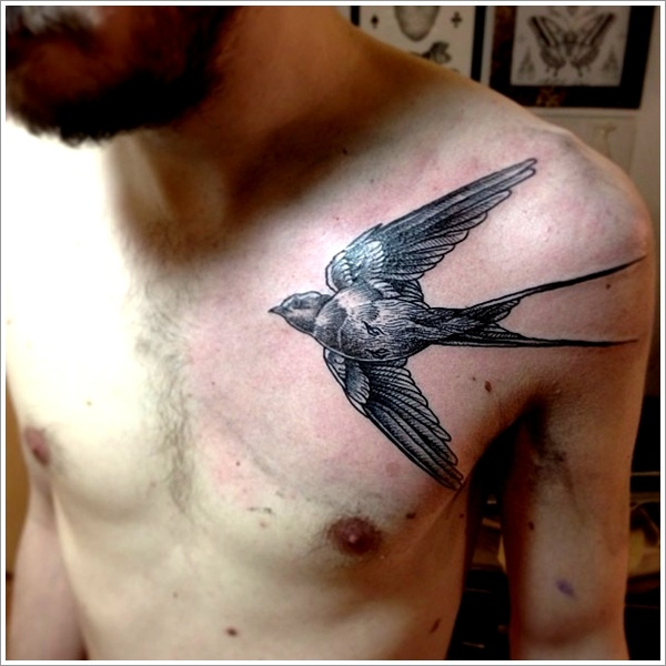 75 Sweet and Meaningful Swallow Tattoos of 37 by Dana