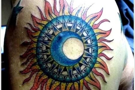 sun tattoo designs 8