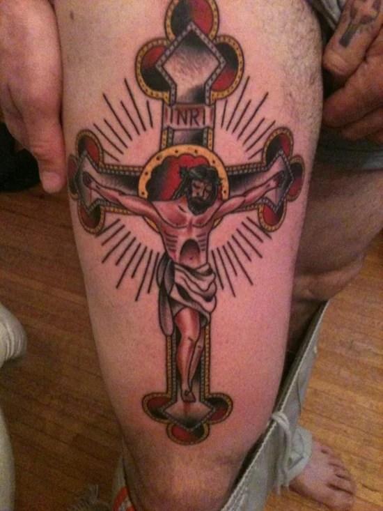 25 Crucifix Tattoo Designs For Men of 2 by Allison