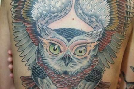 owl tattoo 34