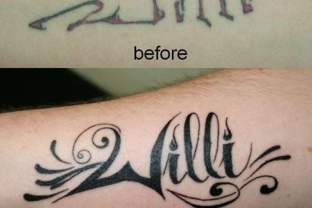 cover up name tattoo by 2face tattoo