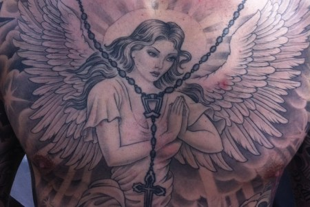 praying angel tattoo designs