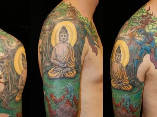 20 Spiritual and Stunning Buddhist Tattoo Designs of 11 by Matthew