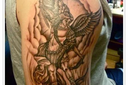st michael tattoo design ideas