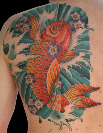Japanese Carp Koi Tattoo by 25 To Life Tattoos of 1 by Bradley