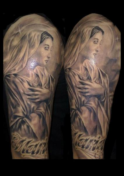 Religious Tattoo by Delirium Tattoo of 2 by Patrick
