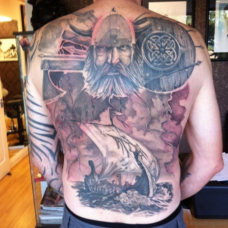 59 Alluring Viking Tattoos For Back of 23 by Levi