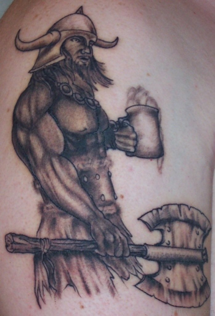 59 Alluring Viking Tattoos For Back of 36 by Levi