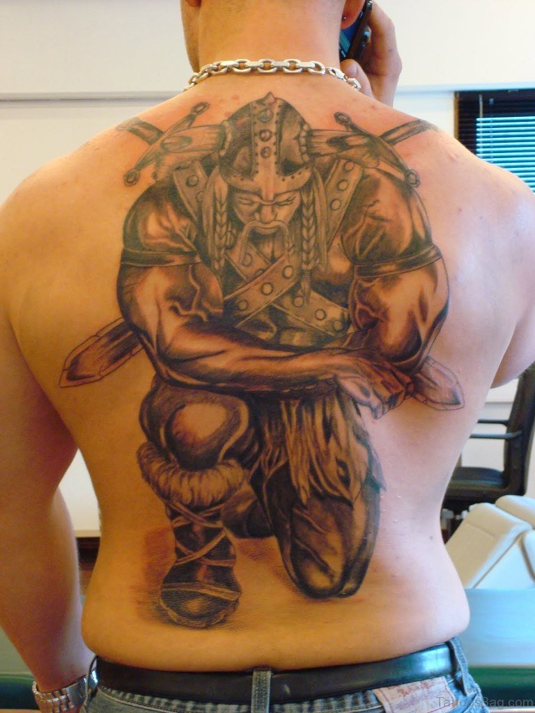 59 Alluring Viking Tattoos For Back of 12 by Levi
