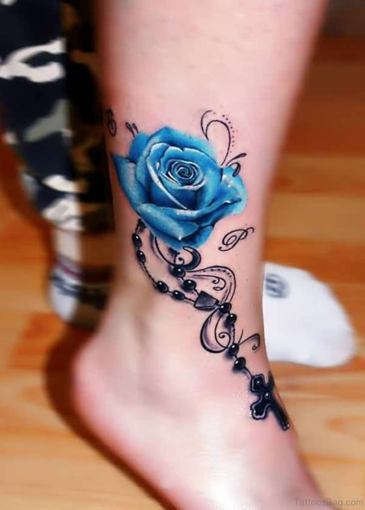 80 Great Cross Tattoos For Ankle of 22 by Nicole
