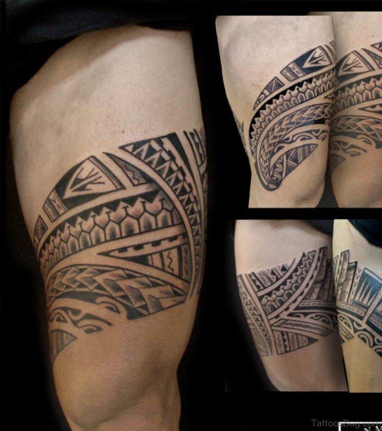 53 Classic Tribal Tattoos On Thigh - 2018 Tattoos Ideas