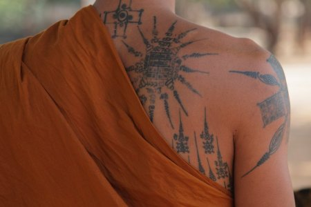 new buddhist tattoo style for men