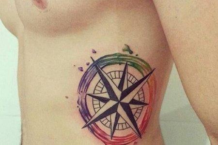 omp tattoo design on rib tb1214