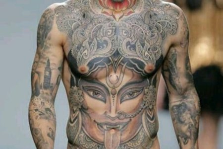 buddhist tattoo on chest1 tb1069