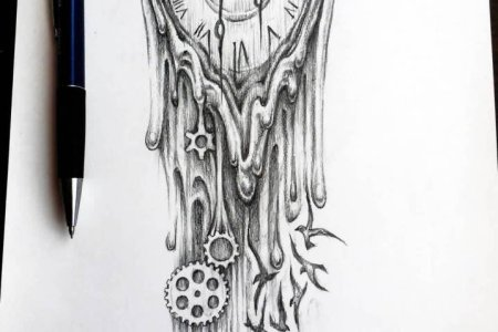 clock tattoo design 53 tb12056