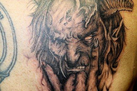 devil demon tattoo design on back tb108