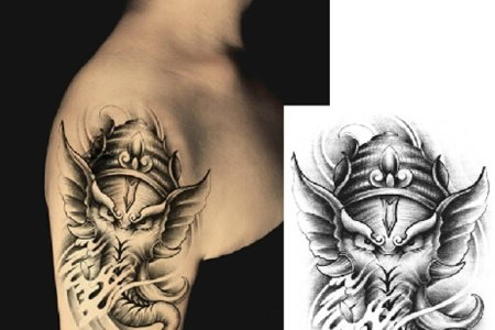 ganesha tattoo design tb12205