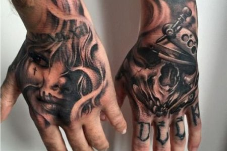 awesome hand tattoo tb1007 1