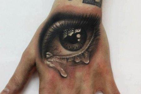 eye tattoo on hand tb1031