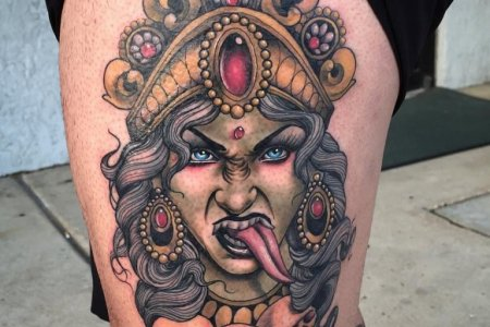kali godess tattoo on thigh tb127