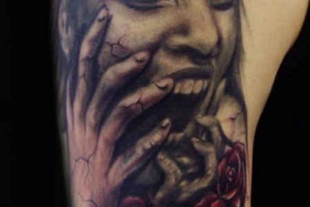 horror tattoo design tb1057