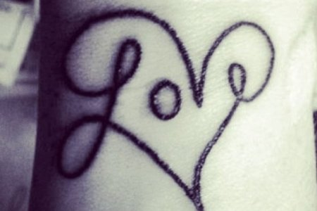 love tattoo design tb1036