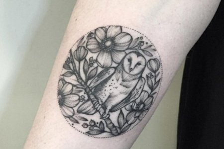 owl tattoo design on arm tb14065