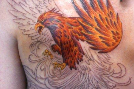 phoenix tattoo design on back 7 tb1072