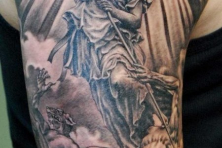 angel sleeve tattoos