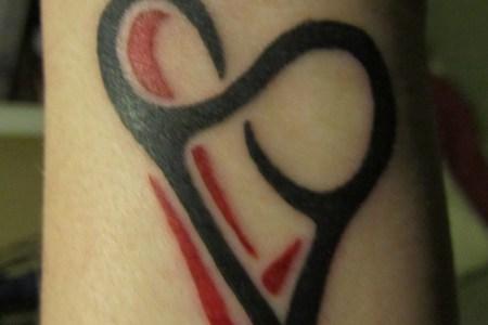 heart infinity tattoo