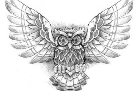 mystic owl tattoo