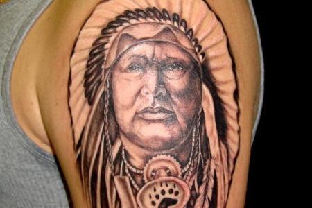 indian head tattoo