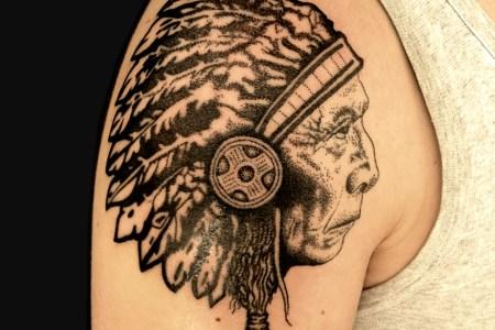 indian head tattoos