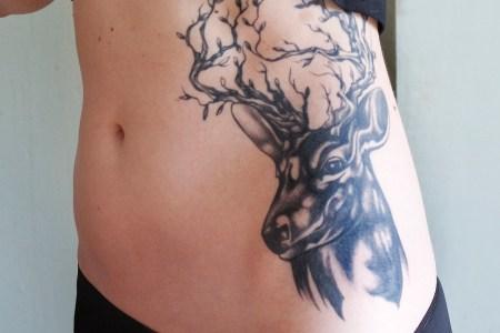 deer tattoos for girls