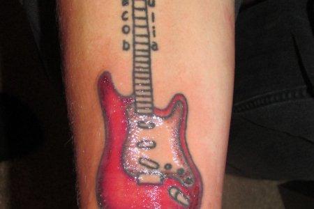 guitar music tattoo designs