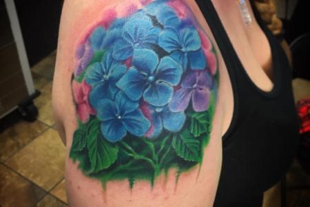 hydrangea tattoo images
