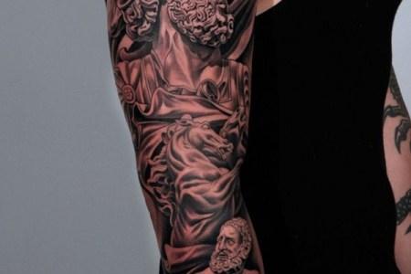 greek sleeve tattoo