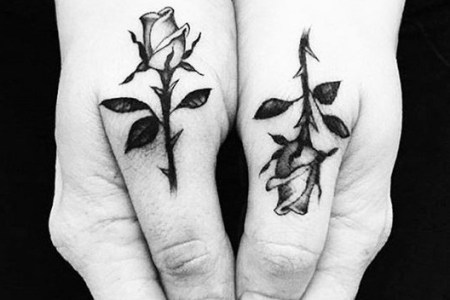 matching rose tattoos pictures