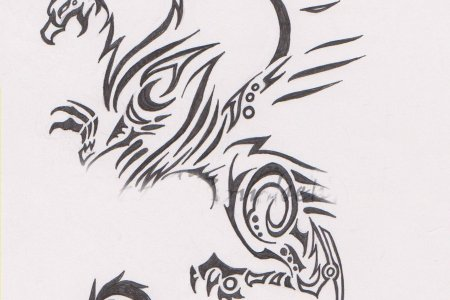 tribal griffin tattoo design 2