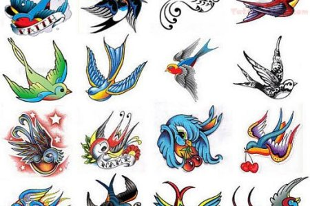swallows tattoo design gallery