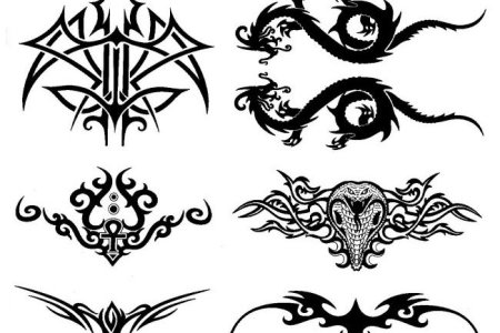 tribal lower back tattoos designs